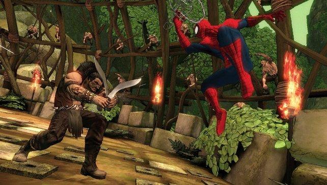 Kraven macht euch mit seinen Schwertern ordentlich zu schaffen!