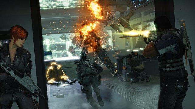 Verbessert ihr eure Waffen, erhaltet ihr je nach Charakter unterschiedliche sekundäre Feuermodi.