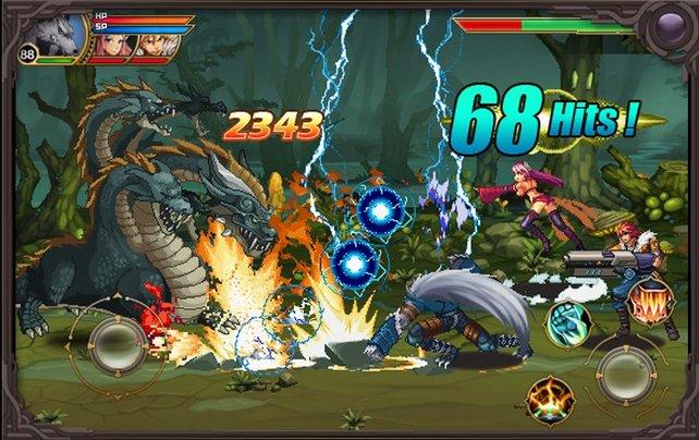 Die zahlreichen Gegnermassen malträtiert ihr mit wuchtigen Kombo-Attacken.