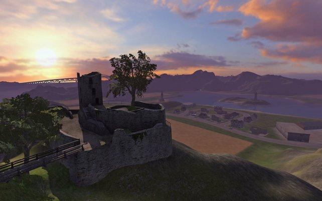 Hier und da locken einige Sehenswürdigkeiten wie diese Burgruine.