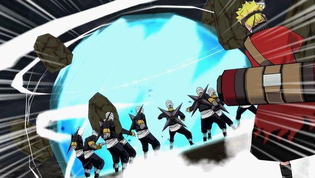 Narutos Angriffe schlagen ein wie eine Bombe.