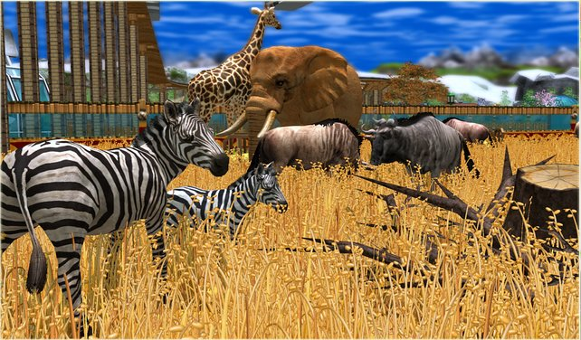 Zebras, Giraffen, Elefanten - euren Park bevölkern bald viele Tierarten.