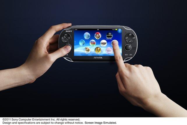 Die PS Vita verfügt über einen berührungsempfindlichen Bildschirm.
