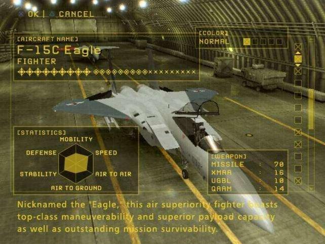 Im Hangar wählt ihr das passende Flugzeug für euren nächsten Einsatz aus