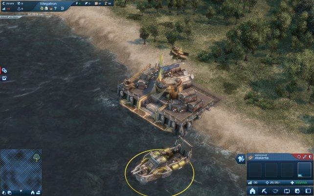 Wieder beginnt ihr damit, ein Kontor auf einer unbesiedelten Insel aufzubauen.