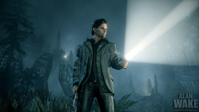 Die Macht des Lichts: Ohne Taschenlampe ist Alan Wake nichts.