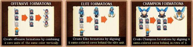 Elite- und Meister-Einheiten benötigen spezielle Formationen.