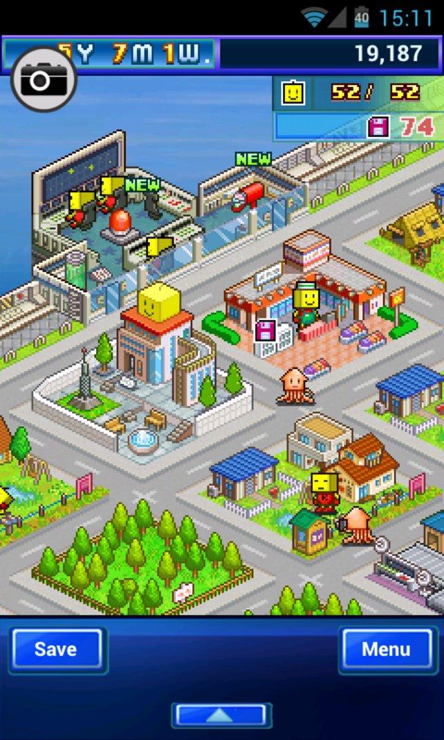 Jedes Kairosoft-Spiel besteht zum Großteil aus Aufbau-Simulation