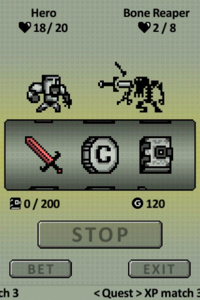Der Spielautomat bestimmt zufällig die nächste Aktion.