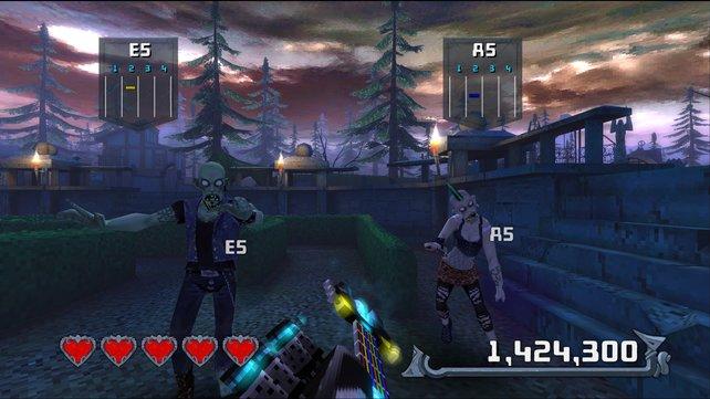 Im Mini-Spiel Return to Castle Chordead übt ihr Akkorde.