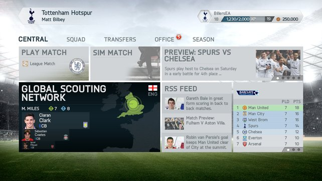Alles auf einen Blick: Entwickler EA Sports hat die Menü-Struktur und die Anordnung komplett überarbeitet.