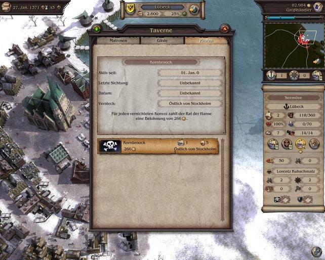 Piraten waren eine Plage für die Hanse, dank des mittelprächtigen Kampfsystems sind sie es auch für den Spieler.