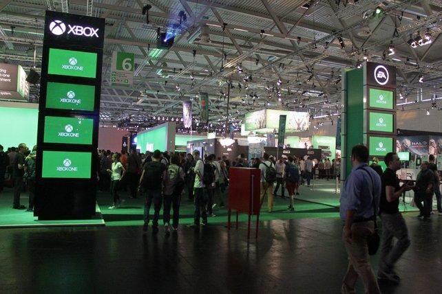 Testspiel an der Xbox One gefällig? Am Microsoft-Stand habt ihr dazu Gelegenheit.