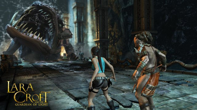 In Lara Croft and the Guardian of Light seid ihr niemals alleine.