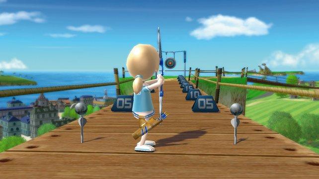 Beim Bogenschießen ist eure Konzentration gefordert.