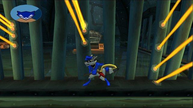 Bei einem Großteil der Missionen schleicht Sly durch die Levels.