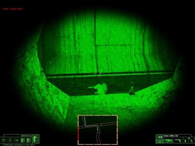 Im Kanal benutzen wir ein Nachtsichtgerät