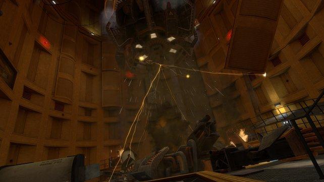 Ein Experiment geht schief und öffnet ein Portal in eine andere Dimension.