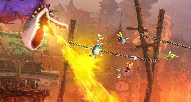 Held Rayman bekommt in Legends Unterstützung von zwei Freunden.