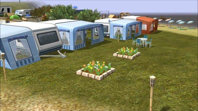 So menschenleer kann ein Campingplatz sein.