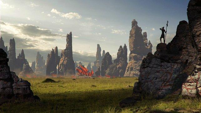 Ihr seht ein gemaltes Konzept-Bild zum Spiel Dragon Age 3.