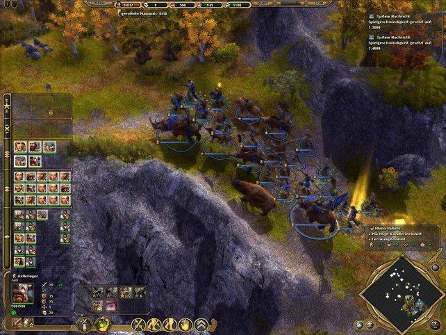 In sauberer Formation stapft unsere Armee durch die Berge
