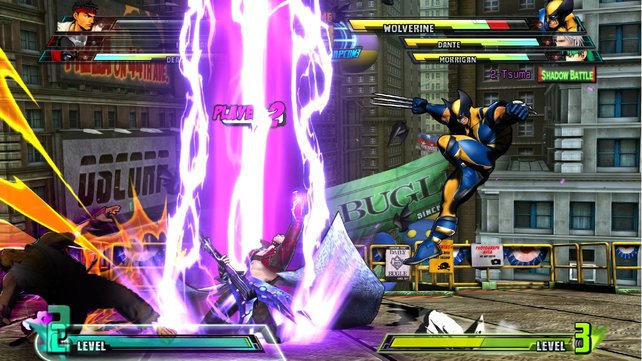 Rasante Kämpfe, fette Spezialeffekte und ... äh ... Gitarrensolos - das ist Marvel vs. Capcom 3.