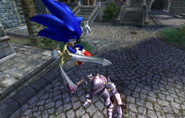 Mit dem Schwert ist Sonic nahezu unbesiegbar.
