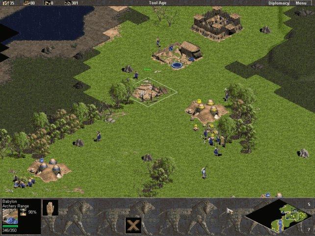 So spartanisch sieht der Anfang bei Age of Empires aus.