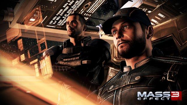 Commander Shepard und sein treuer Pilot Joker gehen durch Dick und Dünn.