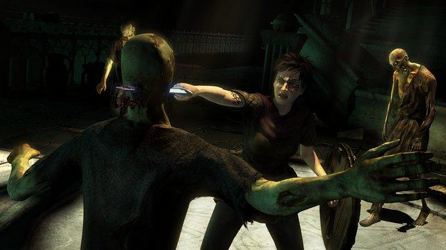 Schwertkampf in Demonicon: ein Zombie weniger!