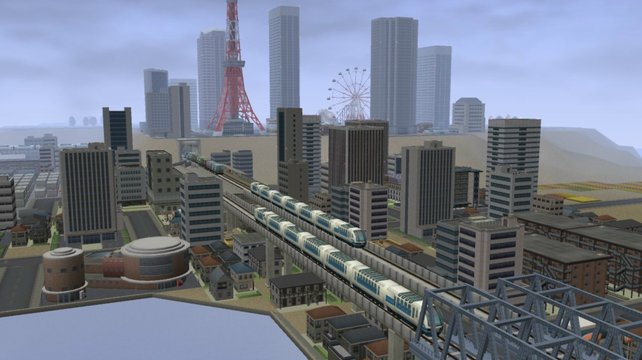Zwei Schnellzüge begegnen sich kurz vor der wachsenden Metropole.