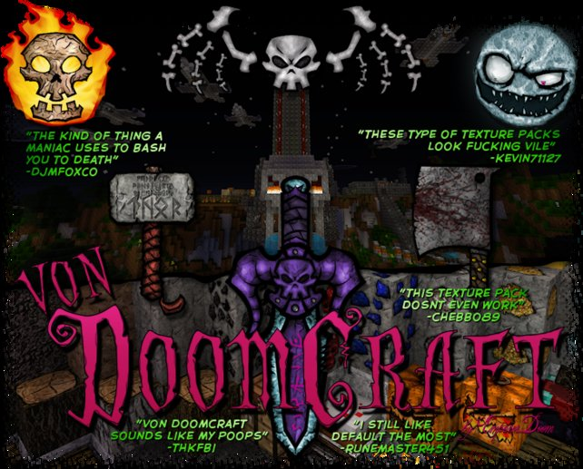 """Wie ein richtig fieser, böser Comic: Die Modifikation """"von DoomCraft"""" hat einen sehr morbiden Stil."""