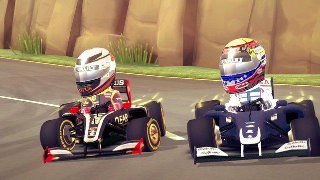 Die Charaktere aus F1 Race Stars sind lustig anzusehen.