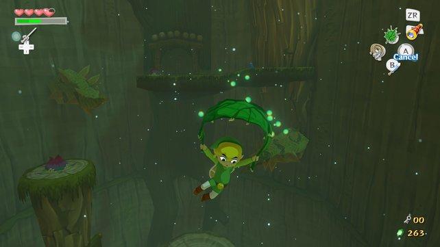 Hoffentlich hat Link keine Höhenangst.
