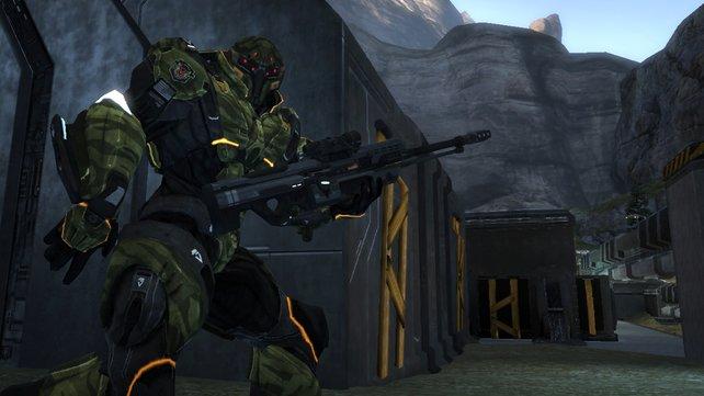 Spielschwerpunkt sind taktische Scharmützel mit Knarre und Raketenrucksack.
