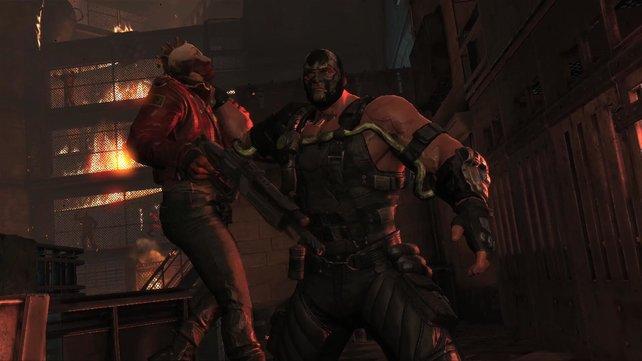 Wer klopft? Bane ist ein echtes Tier und legt sich gerne mit Batman und Robin an