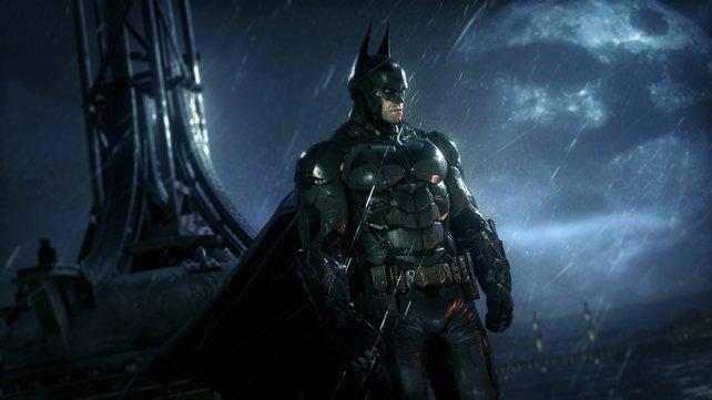 Dunkelheit und Dauerregen, da fühlt sich der dunkle Ritter erst richtig zu Hause.