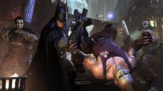 Batman zeigt den Joker-Handlangern, wo der Hammer hängt.