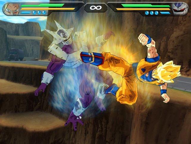 Cooler vs. Goku im Nahkampf