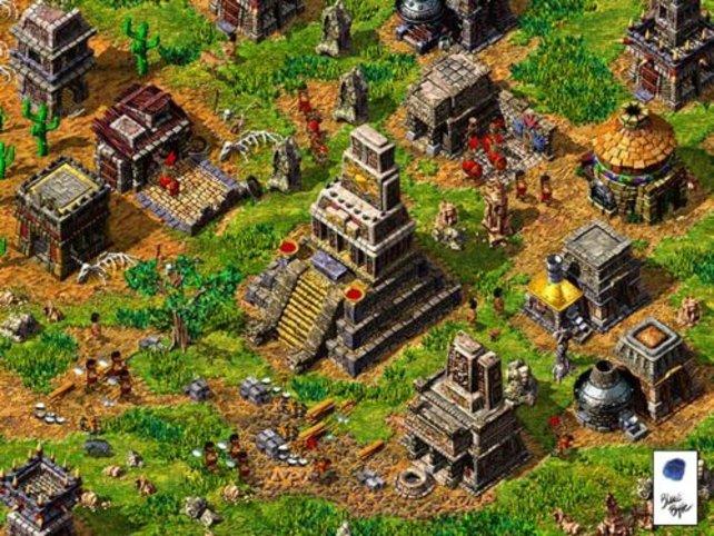 Einblick in ein Dorf der Majas