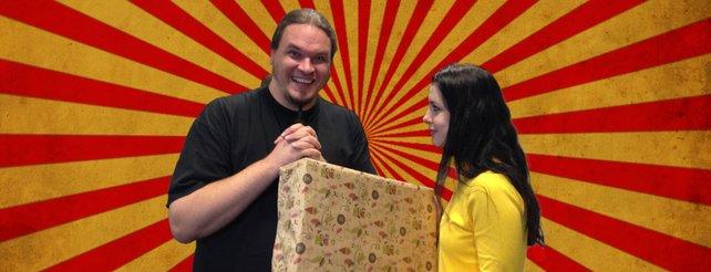 Onkel Jo und Andrea von Bethesda mit dem Gewinn.