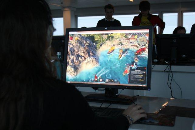 Die Entwickler des Spiels geben beim Anspielen Live-Kommentare und Tipps.