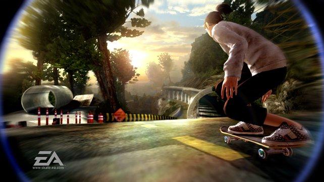 """In """"Skate 2"""" wagen sich auch Mädels aufs Brett."""