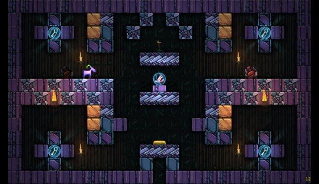 In Escape Goat 2 löst ihr wieder knifllige Rätsel.