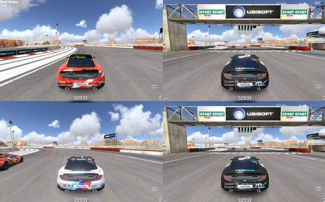 Endlich gibt es auch einen Split-Screen-Modus für bis zu 4 Spieler.