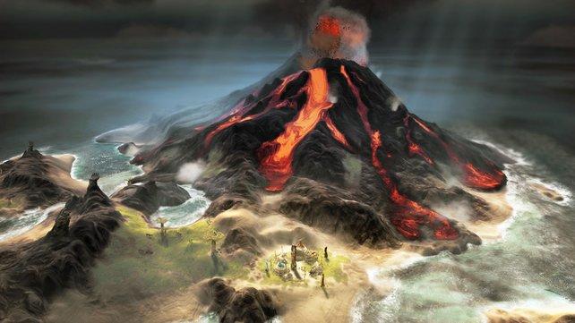 Vulkane und Flutwellen bedrohen euren Stamm.
