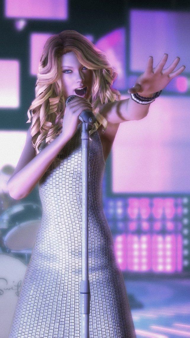 Taylor Swift bekommt im Spiel ihr virtuelles Abbild spendiert.