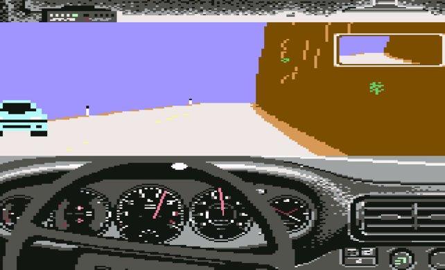 Vor Need for Speed entwickelt Distinctive die ersten Test-Drive-Teile (1987, hier C64).