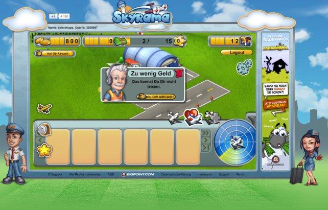 Auch in dem Browser-Spiel Skyrama braucht man Moneten.